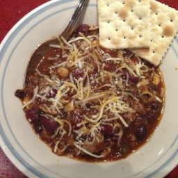 Crockpot Turkey/Beef Chili