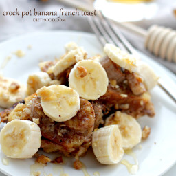 Crock Pot Creamy Banana French Toast
