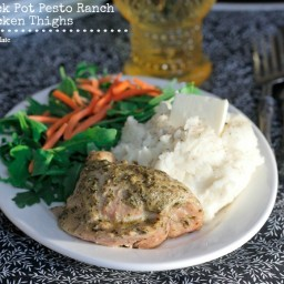 Crock Pot Pesto Ranch Chicken Thighs