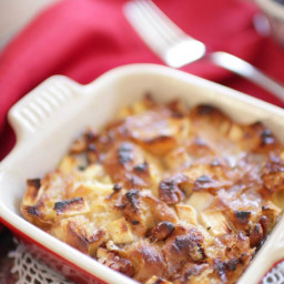 Croissant Breakfast Bread Pudding For One