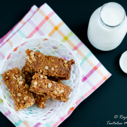Crunchies with coconut, oats and golden syrup