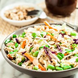 Crunchy Asian Cabbage Ramen Salad