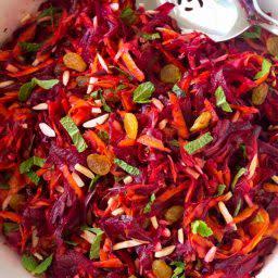 Crunchy Beet Carrot Slaw