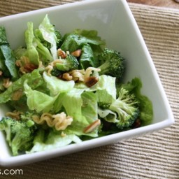 Crunchy Broccoli Salad and Homemade Sweet and Sour Dressing