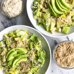 Crunchy Caesar Salad with Brazil Nut Parmesan (vegan)
