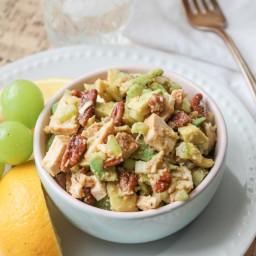 Crunchy Chicken Avocado Salad - Paleo and Gluten Free