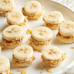 crunchy peanut butter coconut bananas