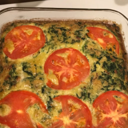 Crustless Bacon, Spinach and Swiss Quiche - Low Carb