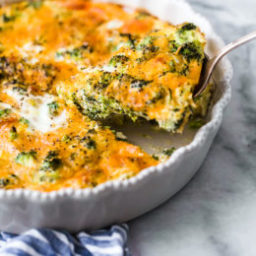 Crustless Broccoli and Cheddar Quiche