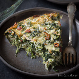 Crustless Spinach Quiche Recipe With Bacon