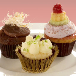 Crystallized Ginger Olive Oil Cupcakes with Lime Buttercream, Opal Basil, M