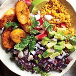Cuban Black Bean-and-Yellow Rice Bowls Recipe