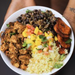 Cuban Chicken and Black Bean Rice Bowls