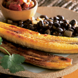 Cuban-Style Black Beans with Rice and Plantains