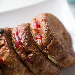 Cuban Style Stuffed Croissant French Toast