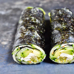 Cucumber and Avocado Quick Nori Roll Recipe
