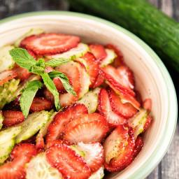 Cucumber And Strawberry Salad Recipe
