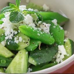 Cucumber and Sugar Snap Pea Salad