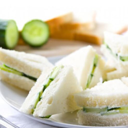 Cucumber and Watercress Tea Sandwich