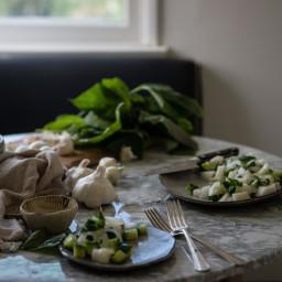 Cucumber & chamoe melon salad.
