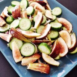 Cucumber, Fig and Belgian Endives Salad