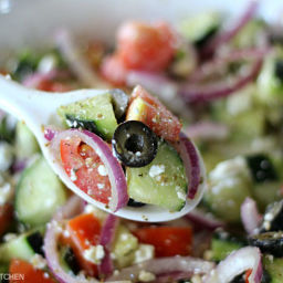 Cucumber Greek Salad
