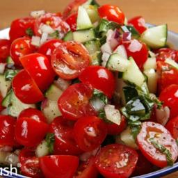 Cucumber Kinda-Caprese Salad