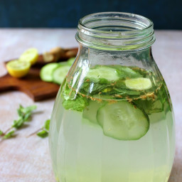 Cucumber Lemon Mint Ginger Detox Drink