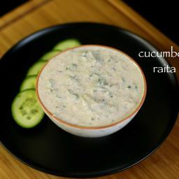 cucumber raita recipe   kheera raita recipe   raita recipe