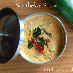 cucumber sasmi (chutney) / southekai sasmirecipe