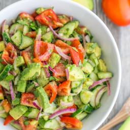 Cucumber Tomato Avocado Salad
