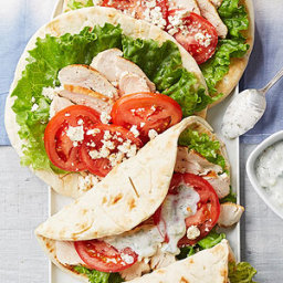Cucumber Chicken Pita Sandwiches