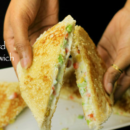curd sandwich recipe | yogurt sandwich recipe - kids lunch box recipe