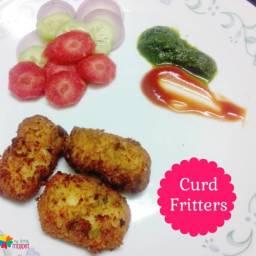 Curd Fritters Recipe