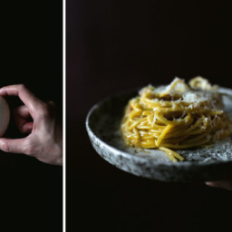 CURED DUCK YOLK CARBONARA
