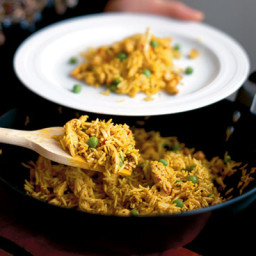 Curried chicken and cashew rice
