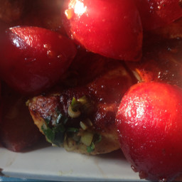 Curried Chicken with Plums and Ginger