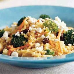 Curried Couscous with Broccoli and Feta