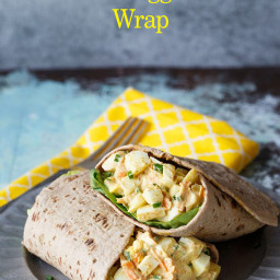 Curried Egg Salad Wrap
