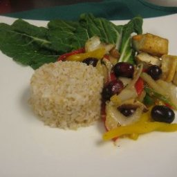 Curried Grape and Vegetable Stir-Fry