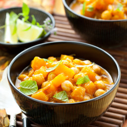 Curried Lentil, Squash and Apple Stew