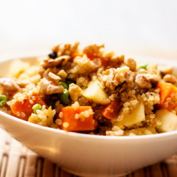 Curried Quinoa and Sweet Potato Pilaf