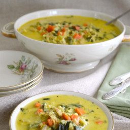 Curried Turkey and Rice Soup {or Chicken}