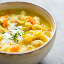Curried Turkey Soup (with Leftover Turkey)