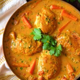 Curry Braised Chicken Thighs