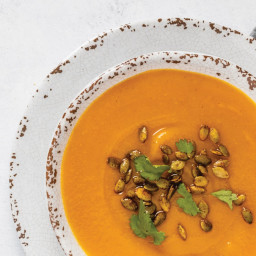 Curry Butternut Squash Soup with Spiced Pepitas
