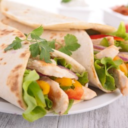 Curry Chicken Wraps with Nectarine-Chutney