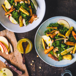 Curry Kale Salad / Turnip and Carrot