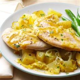 Curry-Roasted Turkey and Potatoes Recipe