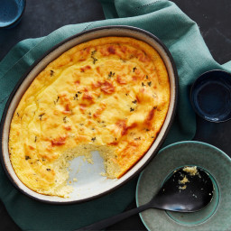 Custard Cornbread with Garlic and Thyme